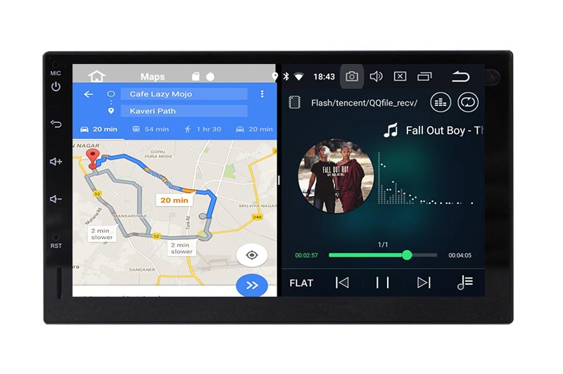 slpit screen on android double din
