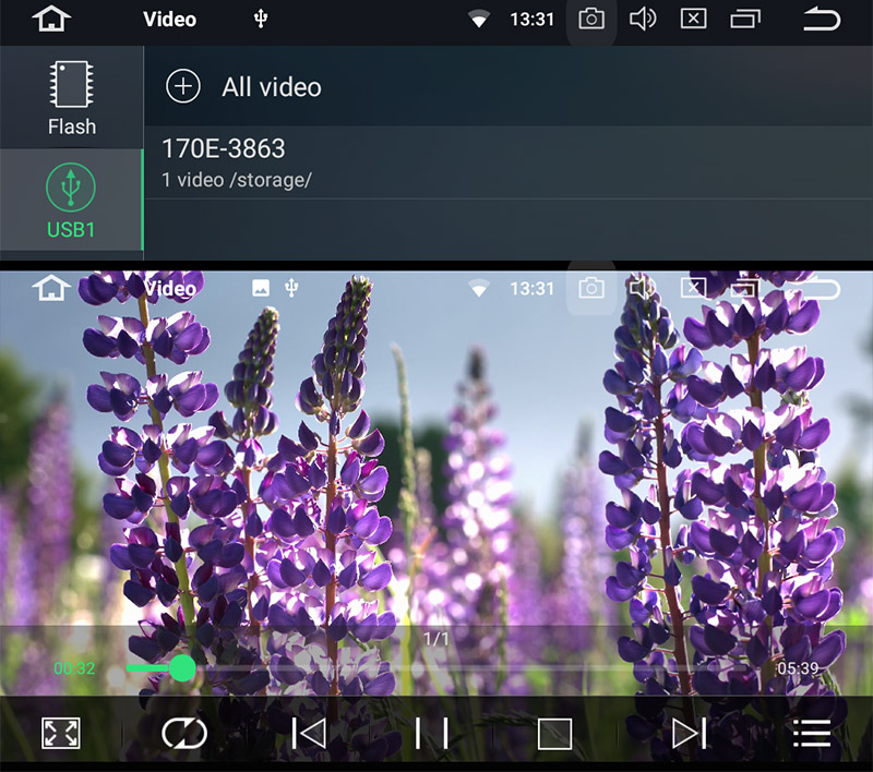 android head unit 4k video