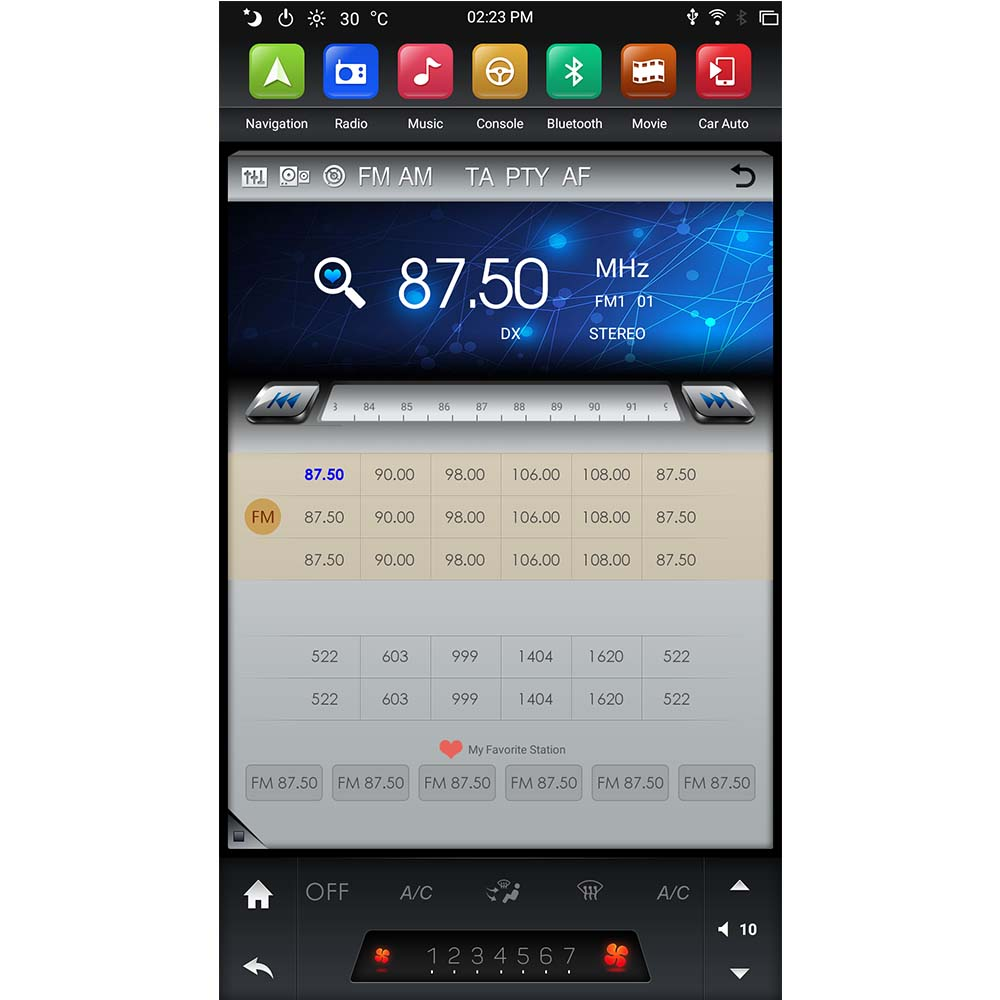 tesla style screen android radio