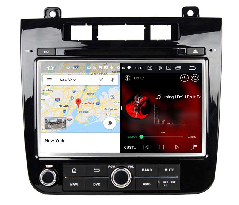 slpit screen on android Volkswagen Touareg 2011 2012 2013 2014 autoradio