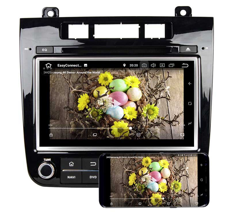 Volkswagen Touareg 2011 2012 2013 2014 dvd player android mirror link