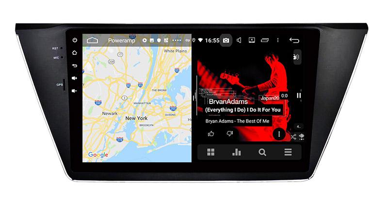 slpit screen on androidVolkswagen VW Touran 2015 2016 2017 2018 2019