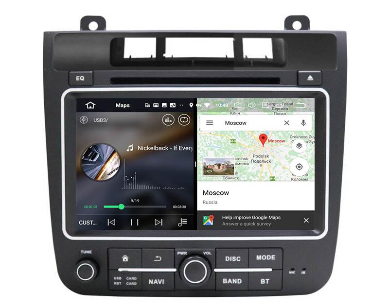 slpit screen on android Volkswagen VW Touareg 2011-2017
