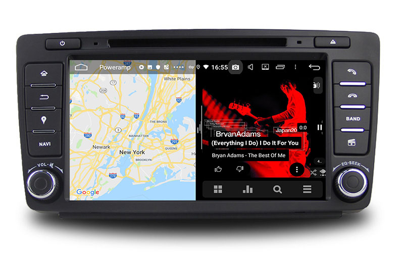 slpit screen on android Skoda Octavia 2009-2015