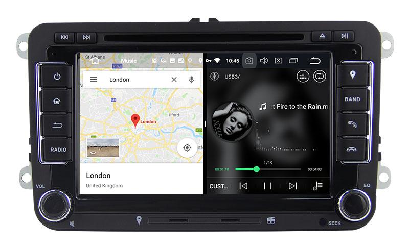 slpit screen on android Volkswagen Jetta Tiguan Golf 7 Polo Passat b7 b6 SEAT leon Skoda Octavia