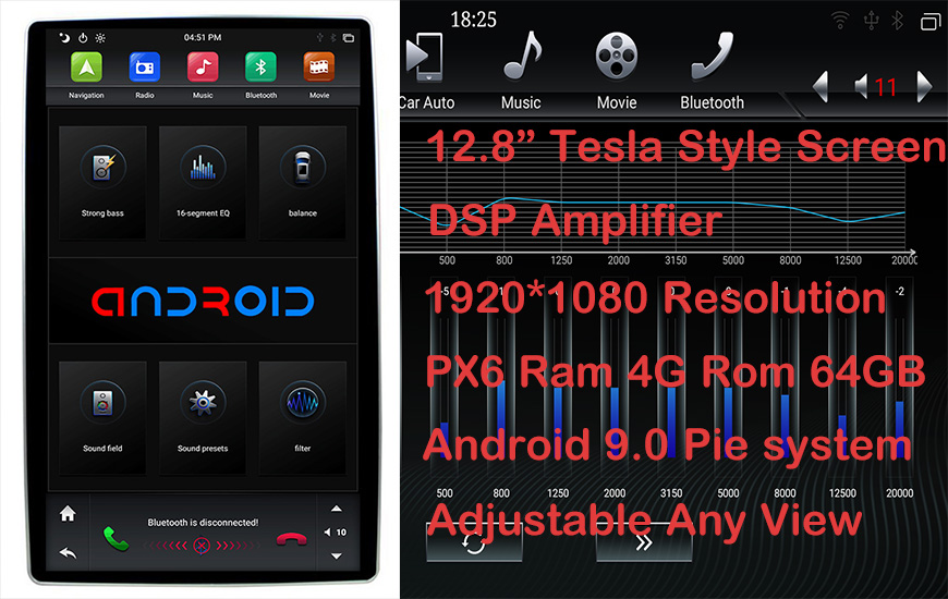 12.8 android 9.0 head unit
