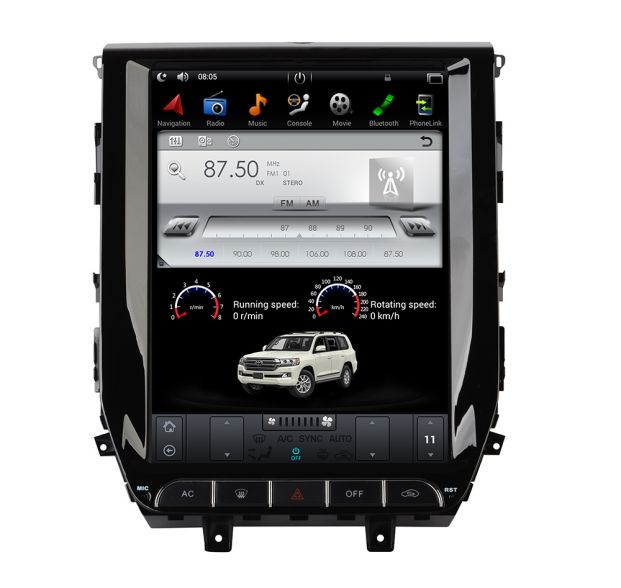 Belsee Aftermarket 12 1 Inch Tesla Style Vertical Touch Screen Android 7 Car Radio Stereo For Toyota Land Cruiser Lc200 2016 2017 2018 Auto Head Unit