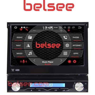 Belsee Aftermarket Best Single 1 Din Android 8.0 Oreo Car Stereo Auto Head Unit 7 Inch Touch Dual Screen Autoradio GPS Audio Music System with Bluetooth and Navigation Octa Core PX5 Ram 4GB Rom 32GB TPMS