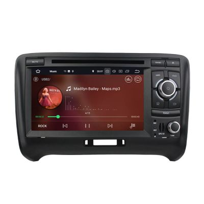 Belsee Audi TT 2006-2013 Aftermarket Stereo Upgrade Android 8.0 Oreo Double 2 Din Head Unit Autoradio Car GPS Navigation System 7