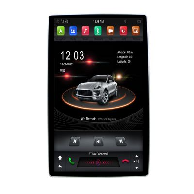 Belsee Best Aftermarket Android 8.1 Oreo Auto Double 2 Din Universal Head Unit Car Stereo Upgrade Radio Replacement 12.8 Inch Tesla Style 1920*1080 Resolution IPS Screen Rockchip PX6 360 View Angle GPS Navigation System Car PC Tablet Audio Multimedia