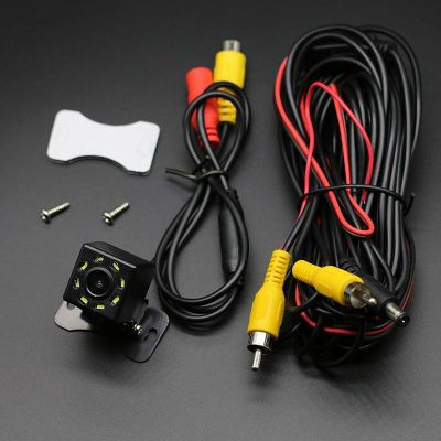 Belsee Car Head Unit Player Rear View Backup Reverse Parking Camera Waterproof 170 CCD  IR Night Vision 8 LED lights