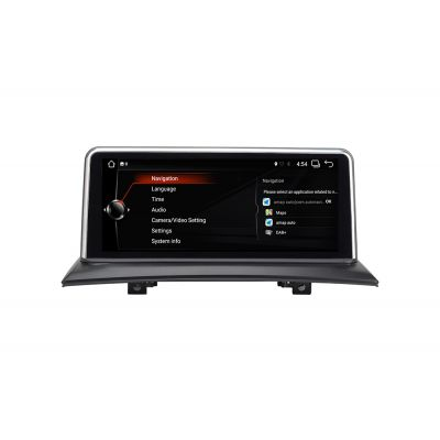 Belsee Aftermarket 10.25 inch Touch HD Screen Radio Android 7.1 Nougat Navigation System Upgrade for BMW X3 E83 2004-2009 iDrive Multimedia Player Bluetooth Quad Core PX3 Ram 2GB Rom 32GB Sat Nav Head Unit Stereo Mirror Link support Android Auto Carplay