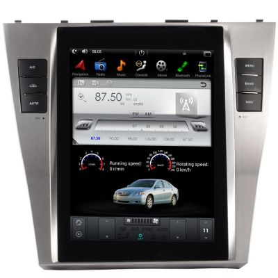 Belsee Aftermarket Tesla Style 10.4 Inch IPS Touch Screen for Toyota Camry Auto A/C 2007-2011 Android 7.1 Head Unit Stereo Radio In Dash GPS Navigation Audio System Multimedia Player Sat Nav OBD2 Apple Carplay Android Auto