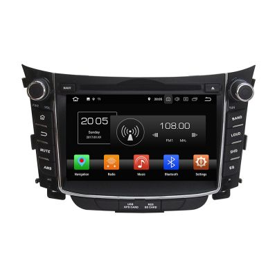 Belsee Best Aftermarket OEM Car Head Unit Hyundai I30 2011-2017 Stereo Upgrade Android 8.0 Oreo Radio Replacement CD DVD Audio Video Player 7