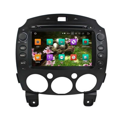 Belsee Aftermarket Android 8.0 Oreo 2 Din Car Radio Head Unit for Mazda 2 2007 2008 2009 2010 2011 2012 8 Inch Touch Screen Auto Stereo GPS Navigation Audio System Octa Core PX5 Ram 4GB Rom 32GB support OBD2 Wifi Bluetooth Carplay Android Auto
