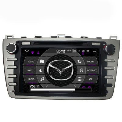 Belsee Android 8.0 Oreo Auto Head Unit Aftermarket Parts Car Radio Stereo Audio for Mazda 6 Ruiyi Ultra 2008 2009 2010 2011 2012 8 Inch Touch Dual IPS Screen GPS Navigation Video DVD Player Octa Core PX5 Ram 4GB Rom 32GB support Carplay Android Auto OBD2