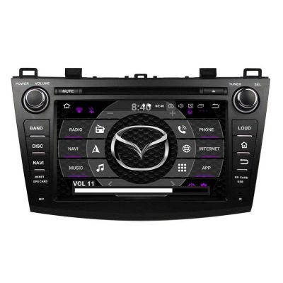 Belsee Aftermarket Auto Radio for Mazda 3 2009 2010 2011 2012 2013 Android 9.0 Pie System Ram 4GB Rom 64GB Octa Core GPS Navigation Car Stereo Upgrade Head Unit part Apple Carplay Android Auto Bluetooth Receiver DAB+