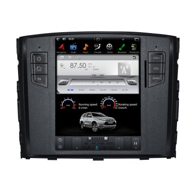 Belsee Tesla Style 10.4 Inch Vertical Touch Screen Android 7.1 Nougat Head Unit Radio for Mitsubishi Pajero Montero Shogun V97 V93 2006+ Quad Core PX3 Ram 2GB Rom 32GB GPS Navigation System Audio Video Multimedia Player support Apple Carplay Android Auto