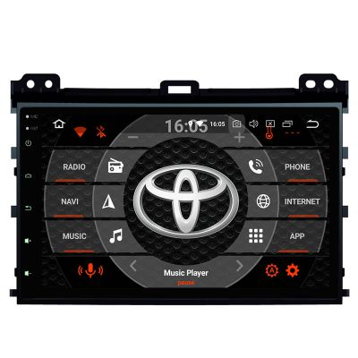 Belsee Aftermarket Android 8.0 Oreo Head Unit Radio Auto Player Navigation System Upgrade for Toyota Land Cruiser Prado 120 Lexus GX470 2002-2009 Parts 9 Inch IPS Touch Screen GPS Stereo Audio Replacement Multimedia support Apple Carplay Android Auto