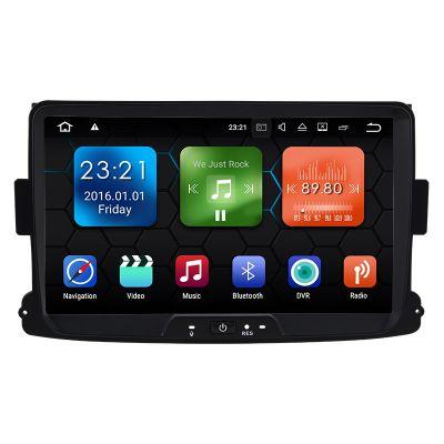 Best Aftermarket 8 inch Autoradio Stereo for Renault Dacia Duster Logan Sandero Android 8.0 Oreo Octa Core PX5 Ram 4GB Rom 32GB Car Radio Player GPS Head Unit Navigation System Wifi Bluetooth DAB+