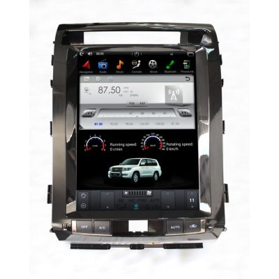 Belsee Aftermarket Super Audio 12.1 Inch Tesla Style Vertical Touch IPS Screen for Toyota Land Cruiser LC200 2008-2015 Android 7.1 Nougat Quad Core PX3 Video Out Car GPS Navigation System Stereo Auto Multimedia Player RAM 2GB Rom 32GB Bluetooth Wifi