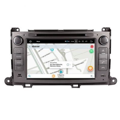 Belsee Aftermarket Android 8.0 Oreo Radio Car Stereo Head Unit GPS Navigation for Toyota Sienna XL30 2010 2011 2012 2013 2014 2015 Octa Core PX5 Ram 4GB Rom 32GB 8 Inch Touch Screen Multimedia DVD 4K Video Player Support Apple Carplay Bluetooth Wifi  OBD2
